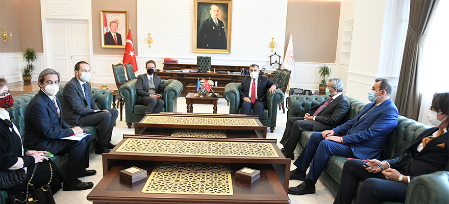 Minister Koca Receives the Head of EU Delegation to Turkey, Ambassador Nikolaus Meyer-Landrut